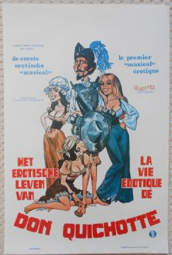 Erotic Adventures of Don Quixote, Original Belgian Movie Poster, Hy Pyke, 76
